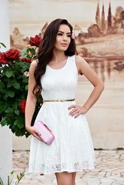 rochii albe scurte de ocazie