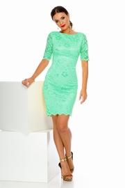 rochii de ocazie scurte din dantela verde