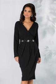 rochie cu maneca lunga de seara din paiete
