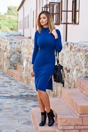 rochii tricotate de iarna albastre