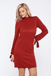 rochii tricotate de iarna rosii