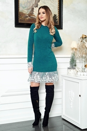 rochii tricotate de iarna verzi