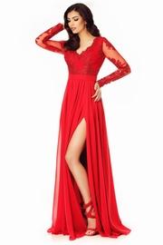 rochie de seara lunga cu paiete rosie