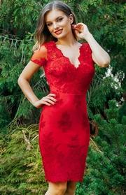 rochii de seara cu maneca scurta rosii