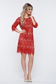 rochii de seara dantela rosie