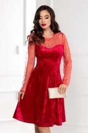 rochii de seara de catifea rosie