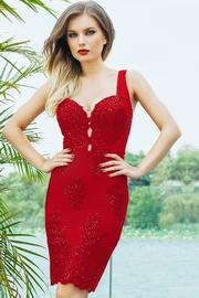 rochii de seara de catifea rosii