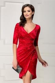 rochii de seara elegante scurte rosii
