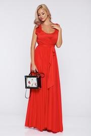 rochii de seara lungi din voal rosii