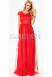 rochii de seara lungi rosii 2018
