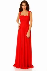 rochii de seara lungi rosii din voal