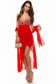 rochii de seara lungi rosii pret