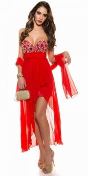 rochii de seara rosii cu trena