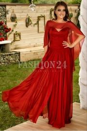 rochii de seara rosii lungi cu trena