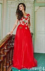 rochii de seara rosii lungi de vara