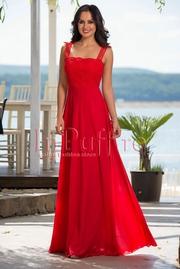 rochii de seara rosii lungi din voal