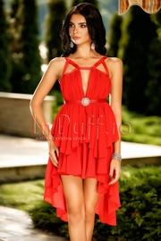 rochii de seara scurte in fata si lungi in spate rosii
