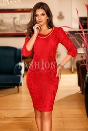 rochii de seara scurte rosie
