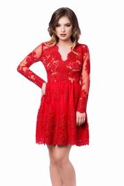 rochii de seara scurte rosii babydoll