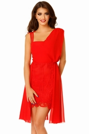 rochii de seara scurte rosii cu tul