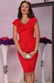 rochii de seara scurte rosii elegante