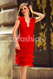 rochii de seara scurte rosii ieftine