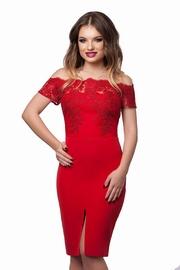 rochii de seara scurte rosii pentru nasa