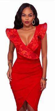rochii de seara scurte rosii
