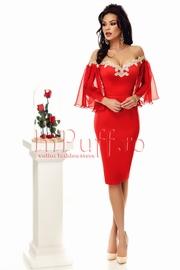 rochii rosii de seara atmosphere