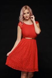 rochii rosii de seara reduceri