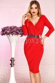 rochii rosii de seara
