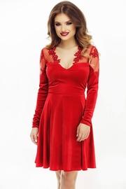 rochii scurte de seara rosii tip printesa