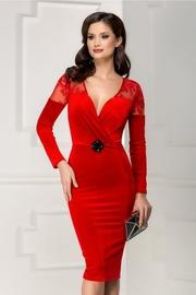 rochii scurte de seara rosii