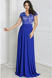 rochii de seara elegante lungi albastre