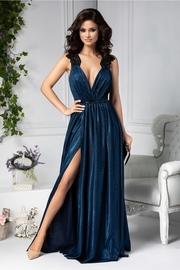 rochii albastre lungi cu spatele decupat