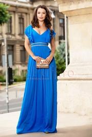 rochii albastre lungi de banchet