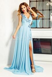 rochii albastre lungi elegante de nunta
