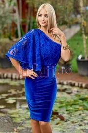 rochii albastre lungi elegante din dantela