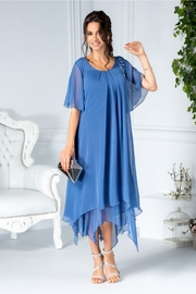 rochii albastre lungi elegante din voal