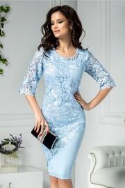 rochii albastre scurte cu dantela