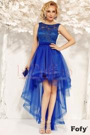 rochii albastre scurte cu tull