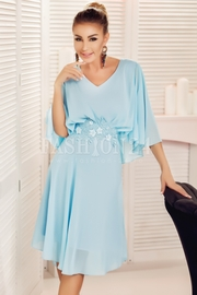 rochii albastre scurte elegante de nunti