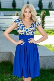 rochii albastre scurte elegante de seara
