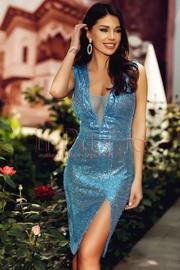 rochii albastre scurte elegante pentru banchet