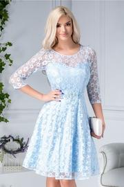 rochii albastre scurte elegante pentru botez