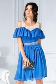 rochii albastre scurte vaporoase