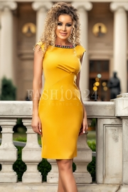 rochii de ocazie galbene scurte ieftine