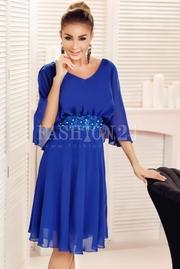 rochii de seara albastre scurte ieftine