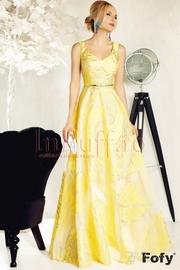 rochii de seara lungi galbene ieftine