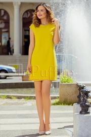 rochii elegante scurte galbene ieftine